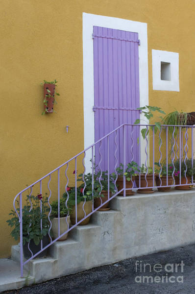 Photograph - Purple Door In France by John Shaw