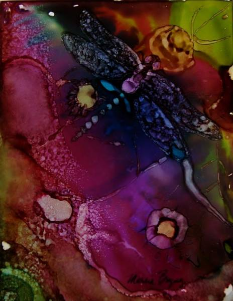 Painting - Purple Dragonfly by Marcia Breznay