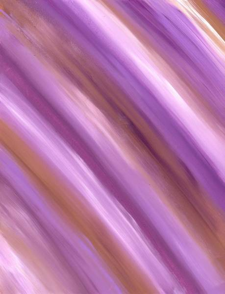 Painting - Purple Dreams Diagonal Stripes by Barbara St Jean