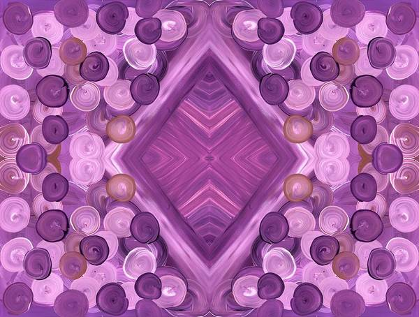 Painting - Purple Dreams Diamond Pebbles by Barbara St Jean
