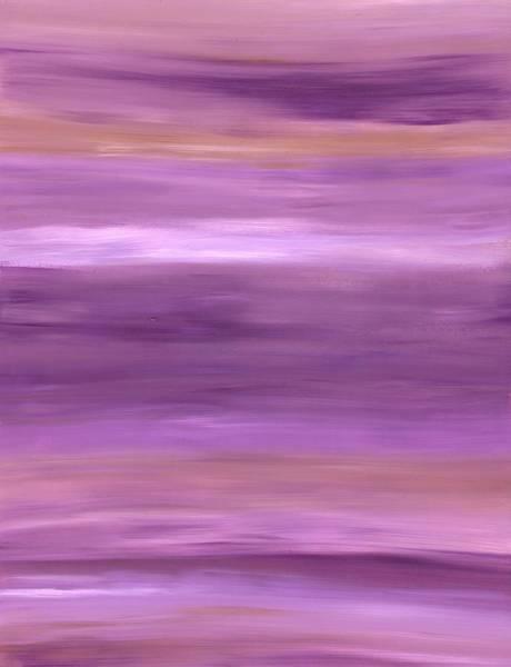 Painting - Purple Dreams Horizontal Stripes by Barbara St Jean
