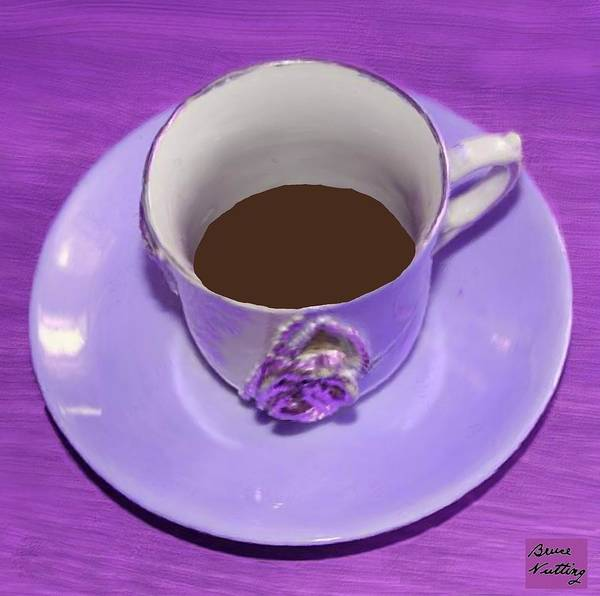 Wall Art - Painting - Purple Eloquent Coffee Cup by Bruce Nutting