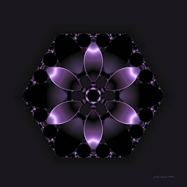 Digital Art - Purple Fantasy Flower by Judi Suni Hall