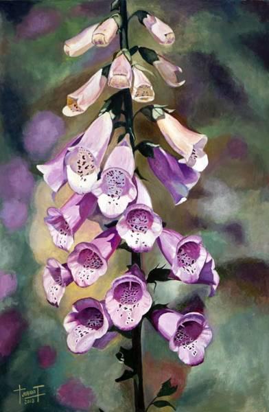 Foxglove Wall Art - Drawing - Purple Fingers, 2010 by Cruz Jurado Traverso