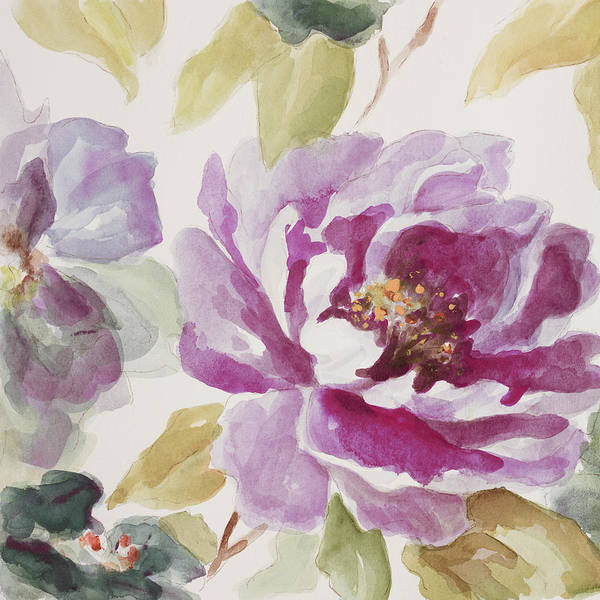 Delicate Painting - Purple Floral Delicate by Lanie Loreth