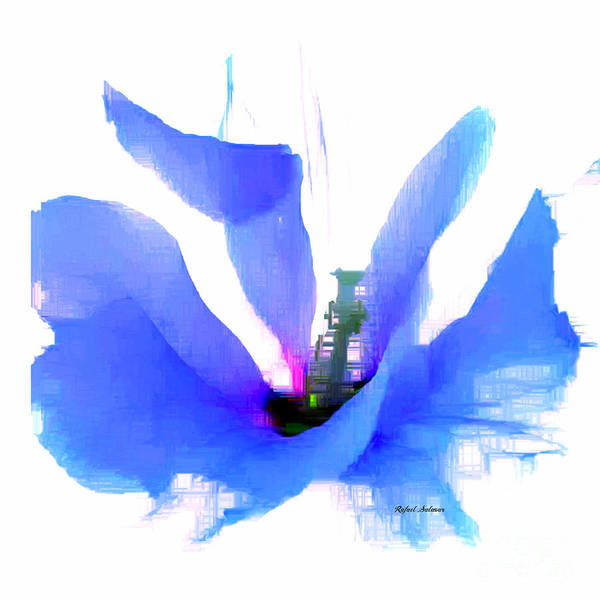 Digital Art - Purple Flower by Rafael Salazar