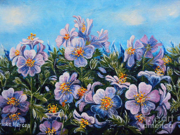 Painting - Purple Flowers by Drinka Mercep