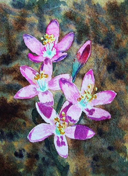Painting - Purple Flowers Impressionism by Irina Sztukowski