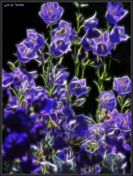 Painting - Purple Flowers by Jon Volden