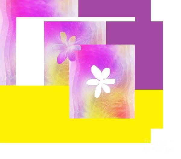 Digital Art - Purple Glow Flower by Ann Calvo