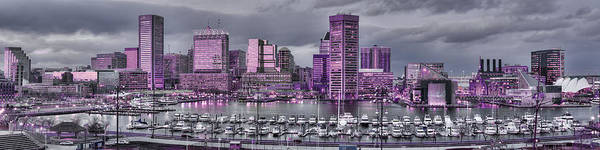 Photograph - Purple Glow On Charm City by Dennis Dame