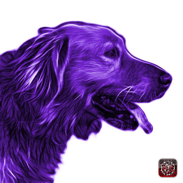 Painting - Purple Golden Retriever - 4047 Fs by James Ahn