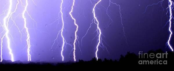 Wall Art - Photograph - Purple Rain Lightning by Michael Tidwell