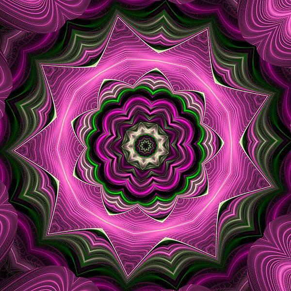 Digital Art - Purple Haze Kaleidoscope by Barbara A Lane