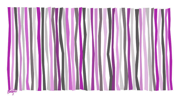 Vertical Line Digital Art - Purple Haze Color Sticks by Patricia Lintner