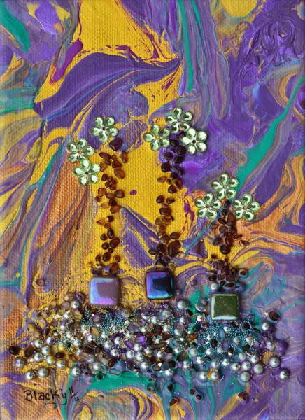 Wall Art - Painting - Purple Haze Pot Garden by Donna Blackhall