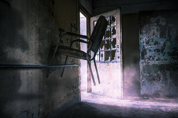 Photograph - Purple Haze - Strange Scene In An Abandoned Psychiatric Facility by Gary Heller