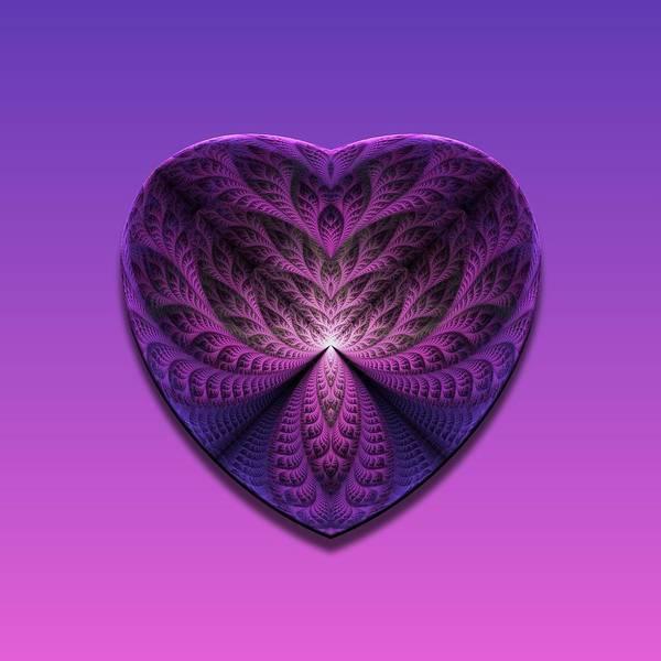 Wall Art - Digital Art - Purple Heart by Lyle Hatch