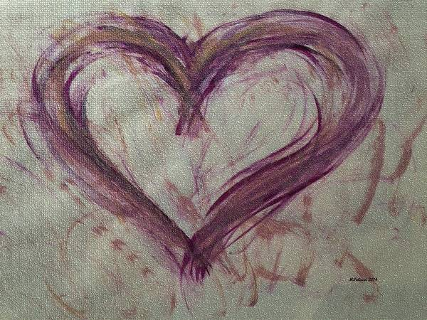 Painting - Purple Heart by Marian Palucci-Lonzetta