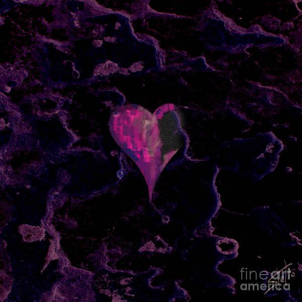 Decoration Day Digital Art - Purple Heart by Stelios Kleanthous