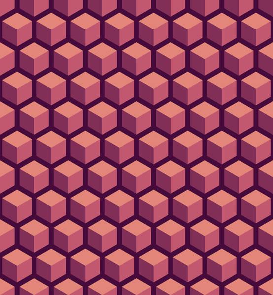 Fill Digital Art - Purple Hexagonal Pattern by Mike Taylor