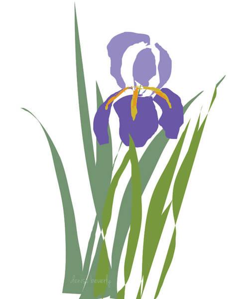 Digital Art - Purple Iris Stylized by Denise Beverly