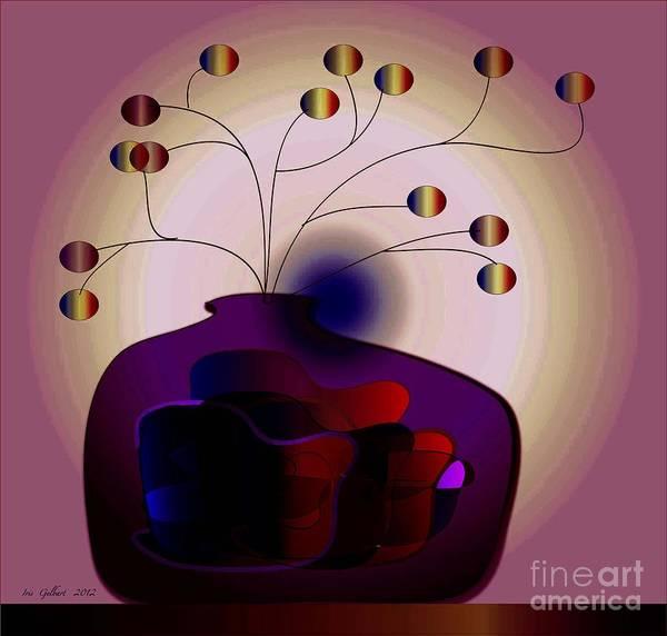 Jug Digital Art - Purple Jar by Iris Gelbart