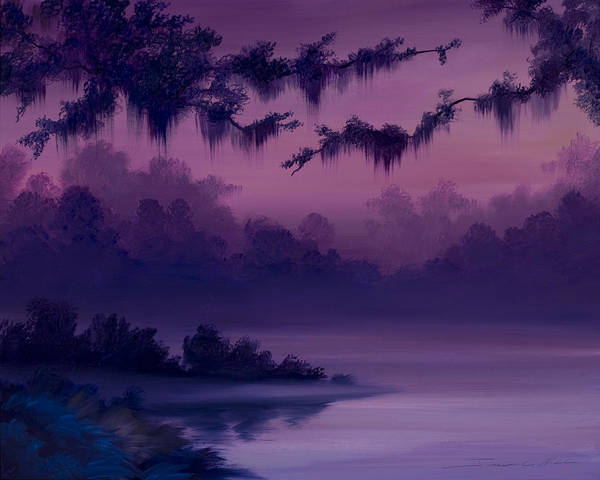 Painting - Purple Jungle by James Christopher Hill