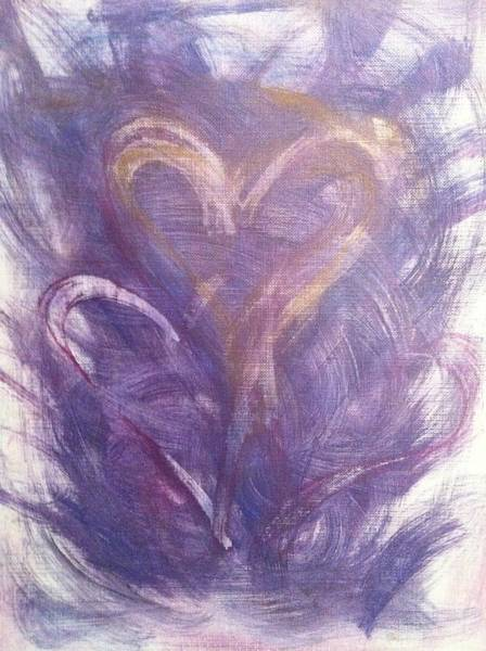 Painting - Purple Labyrinth by Marian Palucci-Lonzetta