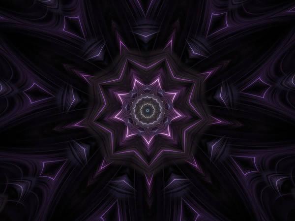 Digital Art - Purple Majestry Kaleidoscope by Barbara A Lane