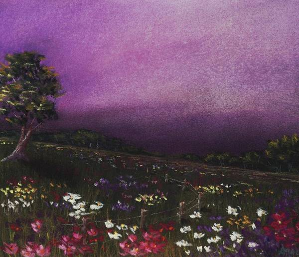 Painting - Purple Meadow by Anastasiya Malakhova
