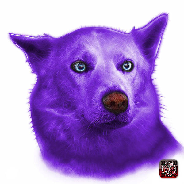 Painting - Purple Mila - Siberian Husky - 2103 - Wb  by James Ahn