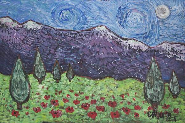 Painting - Purple Mountain Majesty by Laurie Maves ART