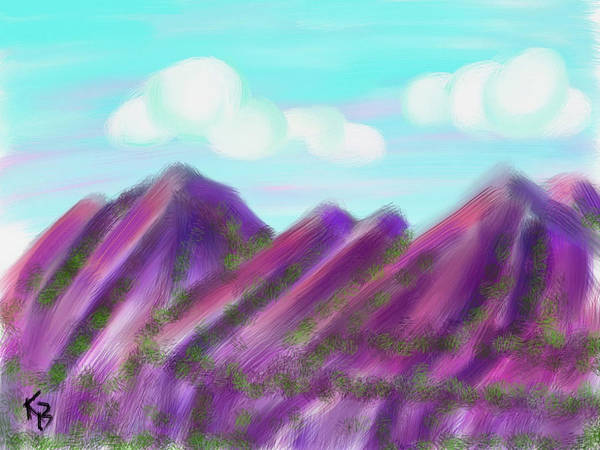 Digital Art - Purple Mountains Majesty by Karen Buford