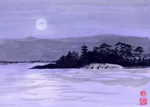 Wall Art - Painting - Purple Pagoda by Terri Harris