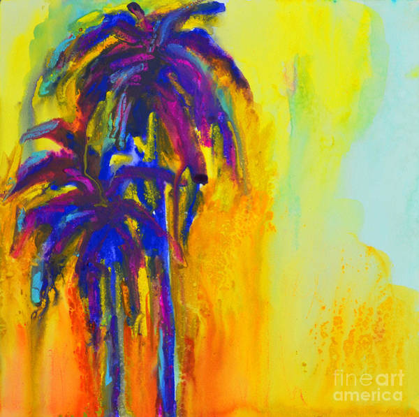 Painting - Purple Palm Trees Sunset - Modern Colorful Landscape  by Patricia Awapara