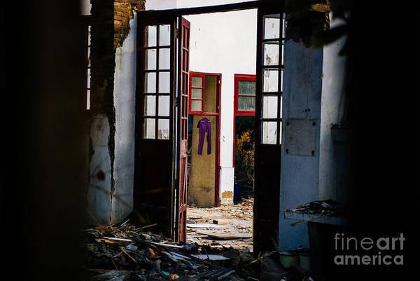 Deconstruction Photograph - Purple Pants by Dean Harte