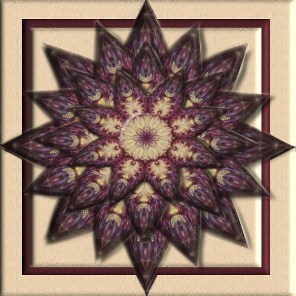 Digital Art - Purple Paradise Flower 3d Kaleidoscope by Charmaine Zoe