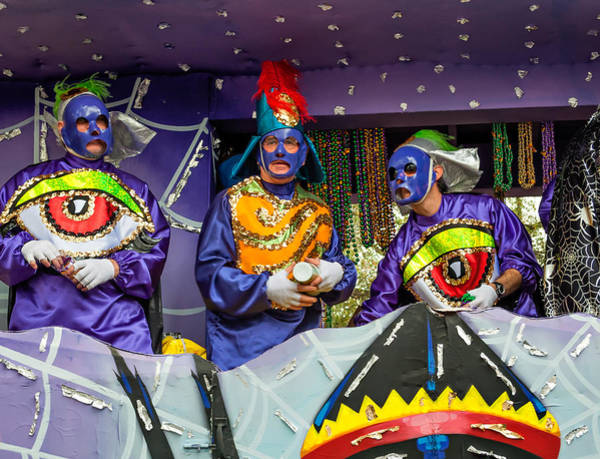 Nola Photograph - Purple Party People by Steve Harrington