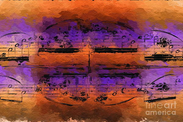 Digital Art - Purple Phrase 3 by Lon Chaffin
