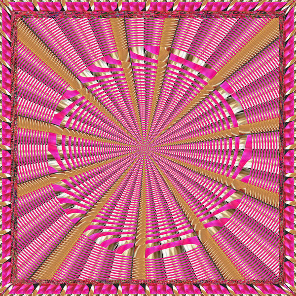 Promotion Mixed Media - Purple Pink Chakra Mandala Decorations For Goodluck And Positive Energies  Made By Reiki Healing Mas by Navin Joshi