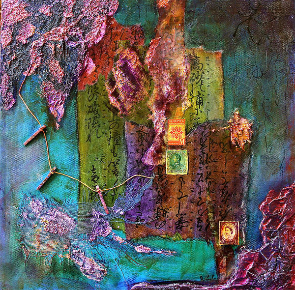 Mixed Media - Purple Prose by Bellesouth Studio