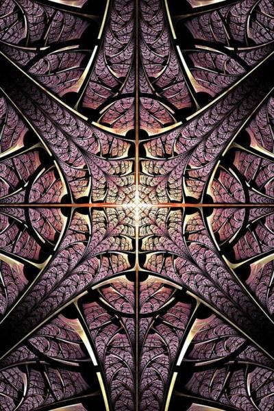 Digital Art - Purple Shield by Anastasiya Malakhova