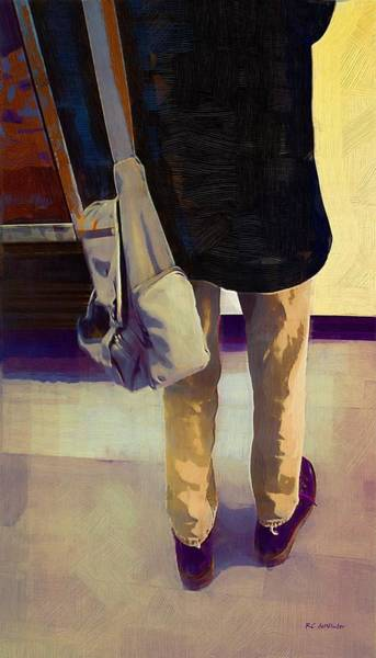 Painting - Purple Shoes At The Museum by RC DeWinter