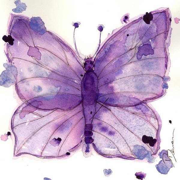 Painting - Purple Sketch by Dawn Derman