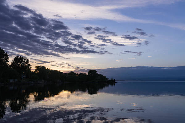 Photograph - Purple Sunrise Clouds by Georgia Mizuleva