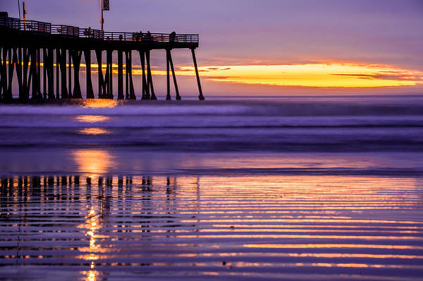 Photograph - Purple Sunset At The Pismo Beach Pier by Gregory Ballos