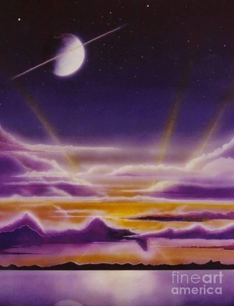 Painting - Purple Sunset by David Neace