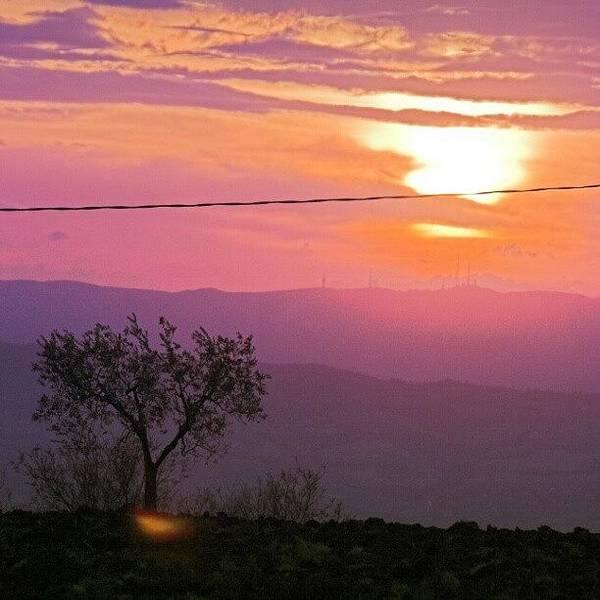 Beautiful Sunrise Wall Art - Photograph - Purple Sunset by Emanuela Carratoni