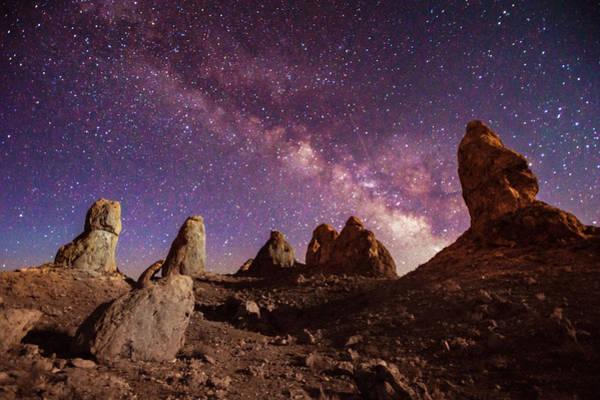 Pinnacles Photograph - Purple Trona by John B. Mueller Photography